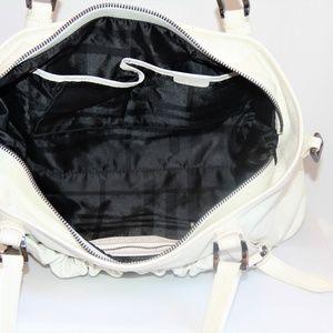 Burberry Dallinger Leather Satchel Bags - Burberry Dallinger White Leather Satchel